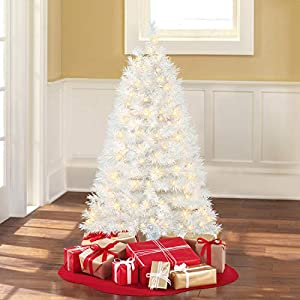 4 Ft. Pre-Lit Clear White Indiana Spruce Artificial Christmas Tree 102