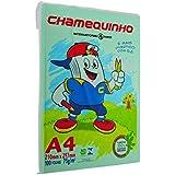 Papel A4 Chamequinho Verde 75G 210X297MM C/ 100 Fls