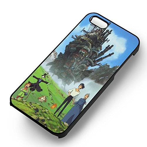 Howl's Moving Castle pour Coque Iphone 6 et Coque Iphone 6s Case (Noir Boîtier en plastique dur) T4D8OR
