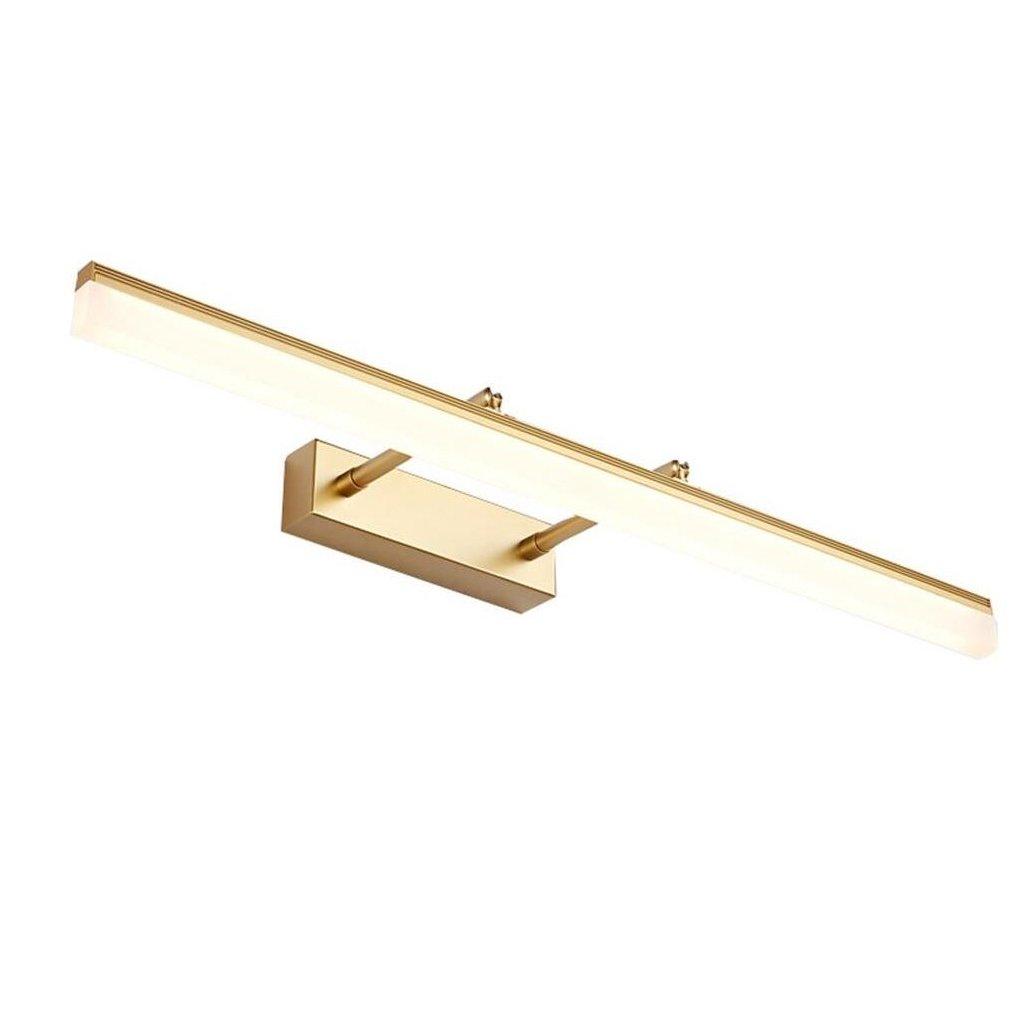Lampada da parete di trucco Retractable impermeabile anti-nebbia - Angolo regolabile 180 ° (colore: oro) ( Colore : Bianco caldo-9W/40cm ) QLL- Mirror Light