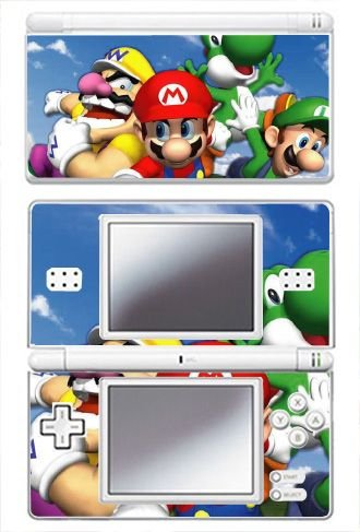 - Super Mario 3D World Game Skin for Nintendo DS Lite Console