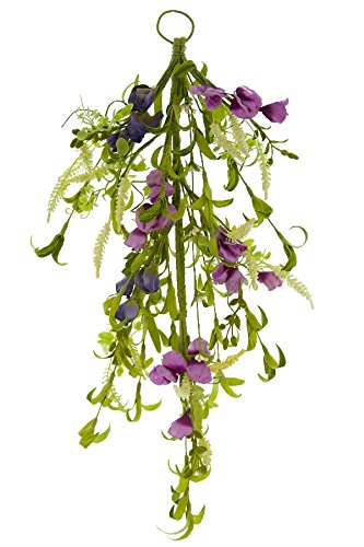 Renaissance 2000 Purple Door Swag Wild Flower, 22'' L x 1'' H x 22'' W