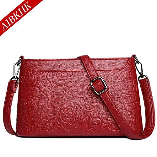 mom gules Retro Simple fashion Satchel Bag pack GMYAN Leather print Ww1v0qcT7