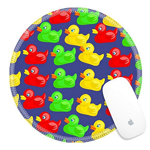 Luxlady Round Gaming Mousepad Colourful cute cartoon rubber duck wallpaper background design IMAGE ID 3897075 -