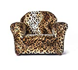 Keet Roundy Faux Fur Children's Chair, Leopard