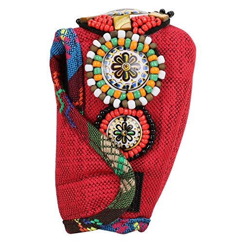 Price comparison product image Bohemian Tibet Style,  Car Gear Shift Knob Cover,  Universal Anti-slip Auto Shift Knobs Sleeve Protector,  Manual Automatic Shifter Knobs Cover for Car Interior Decoration (Red)