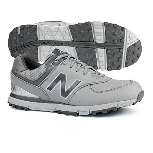 New Balance Men's 574 SL Waterproof Spikeless Comfort Golf Shoe, Grey/Silver, 10 M US