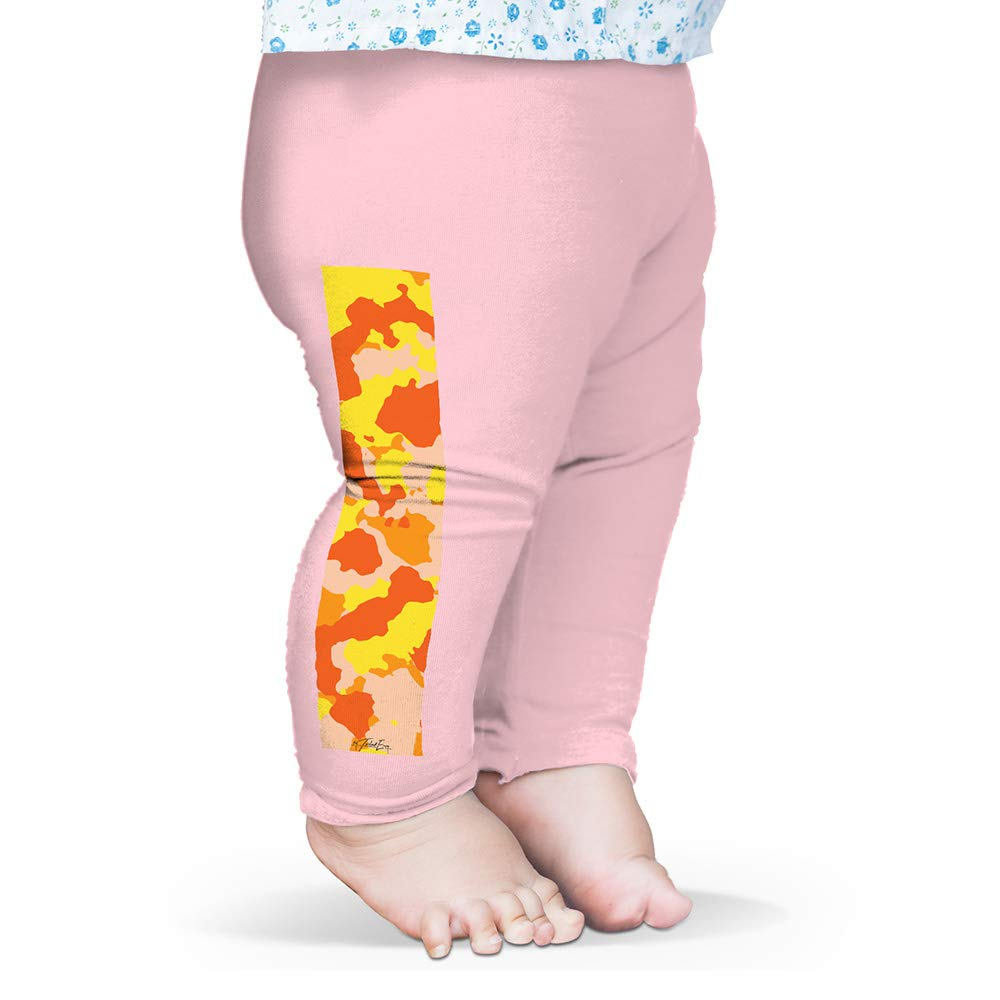 Twisted Envy Orange Camouflage Baby Printed Leggings