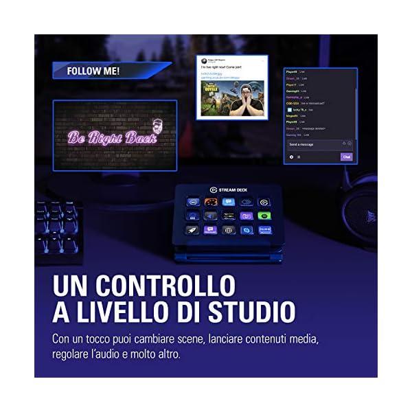 Elgato Stream Deck Individuale Controllo Creazione di Contenuti in Diretta con 15 Tasti LCD Personalizzabili, per Windows 10 e macOS 10.13 o Successivi 3 spesavip