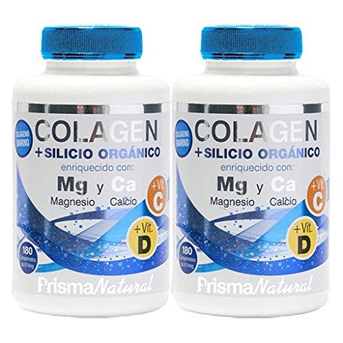COLAGENO + MAGNESIO + SILICIO 2 x 180 Cáps. PRISMA NATURAL: Amazon.es: Salud y cuidado personal