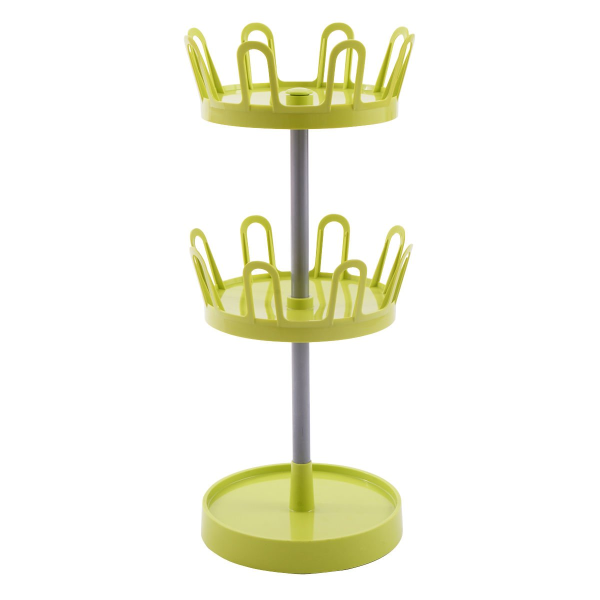 Shoe Rack Tree 2 Tier 8 Pairs Upright Revolving Organizer Stand Dorm Home Green