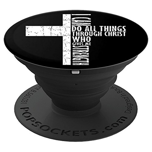Christian Religious Faith I Can Do All Things Bible Verse - PopSockets Grip and Stand for Phones and Tablets