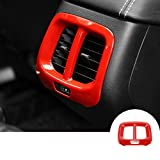 Red Interior Rear Air Vent Outlet Trim Cover For Jeep Cherokee 2014-2016