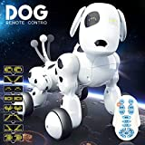 KYOKIM Wireless Remote Control Intelligent Robot Dog Toy Beneficial Wisdom Electric Pet Dog Toy(Chinese Version And English Version),English