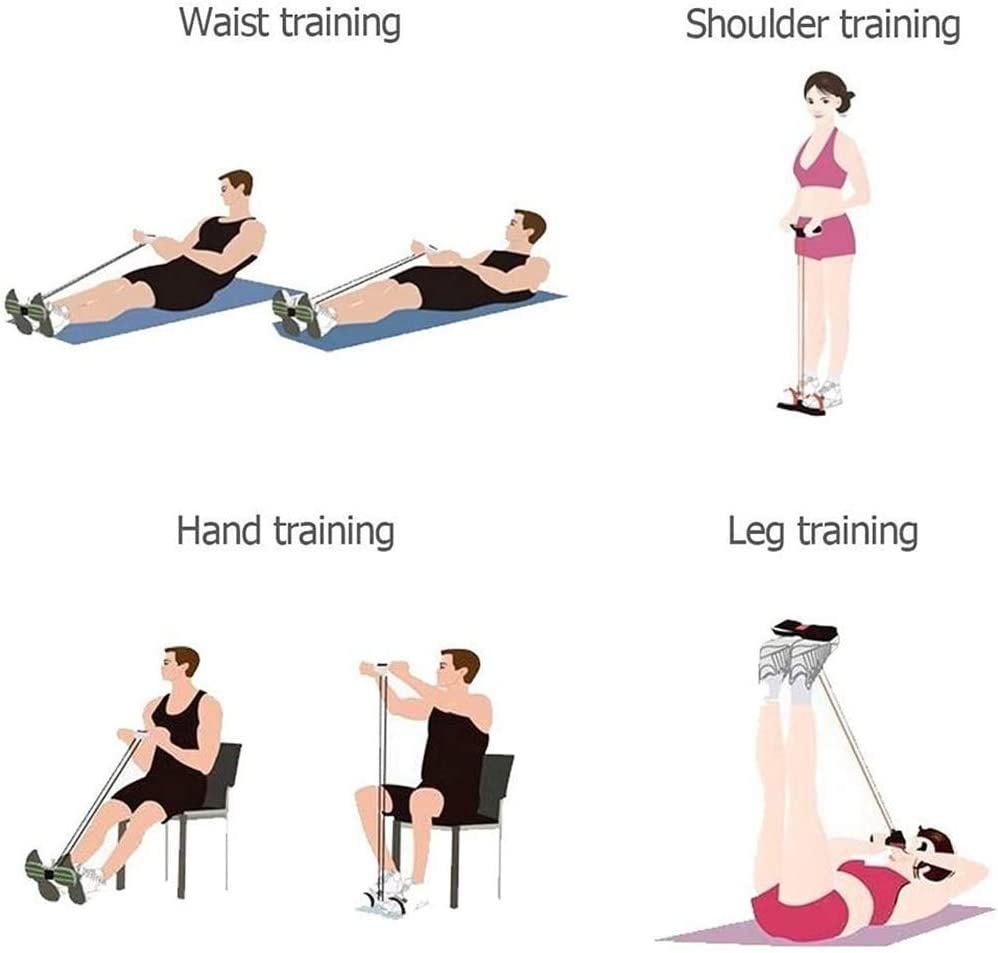 And Sports Training Use The Gym To Do Sit-ups Weight Training Abdominal//Waist//Arm//Leg Stretching Resistance Bands Ardorlove Exercise Bands Chest Expander Elastic Drawstrings
