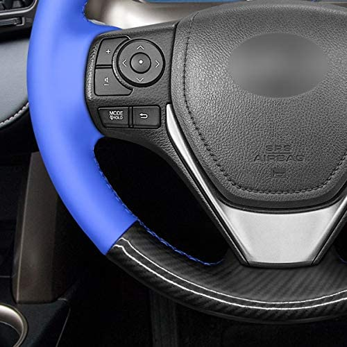 Funda para volante de coche de piel sint/ética y microfibra de piel sint/ética para Peugeot Boxer 2006-2019 para Fiat Ducato 2006-2019 Relay 2008-2019 MEWANT Citroen Jumper 2006-2019