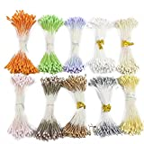 2880pcs 10color Double Tips Headers 1mm Matte Pearl Flower Stamen Cake Decoration (Mixed colors 7)
