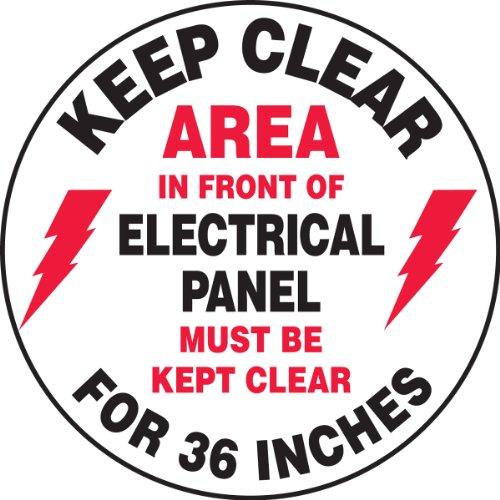 Accuform MFS729 Slip-Gard Adhesive Vinyl Round Floor Sign, Legend