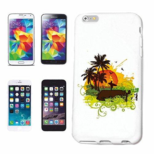 """cas de téléphone iPhone 6+ Plus """"VINTAGE SURF BEACH SURFBOARDS WAVES LONGBOARD DE SURF Beginner Shop"""" Hard Case Cover Téléphone Covers Smart Cover pour Apple iPhone en blanc"""