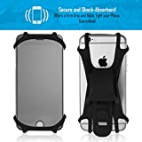 Premium Bike PHONE MOUNT Made of Durable Non-Slip Silicone. Mobile Cellphone Holder / Universal Cradle for All Bicycle Handlebars and 99% of Smartphones: iPhone X, 8, 7, 6, 5, Samsung Series and MORE