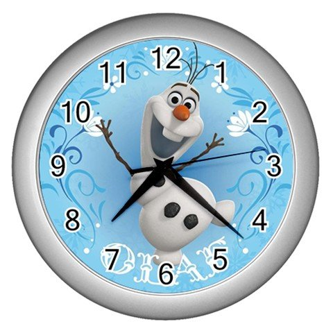 Frozen Disney Olaf Snowman Wall Clock Room Decorations for Girls