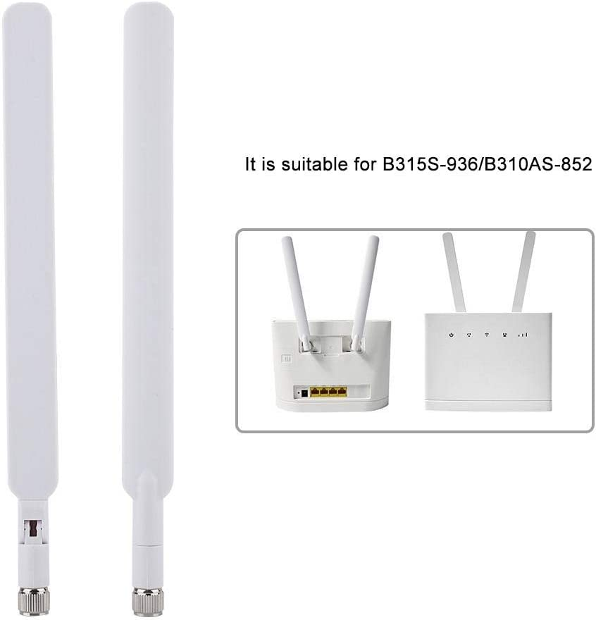 Lazmin Antena de Router, 2PCS 4G LTE Antena de Ganancia de señal para Huawei B310 / B593 / B315s / E5186s CPE Router, excelente Mano de Obra, ...
