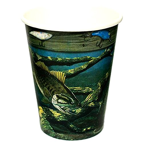Gone Fishin' 12 Ounce Paper Cups 8 Count