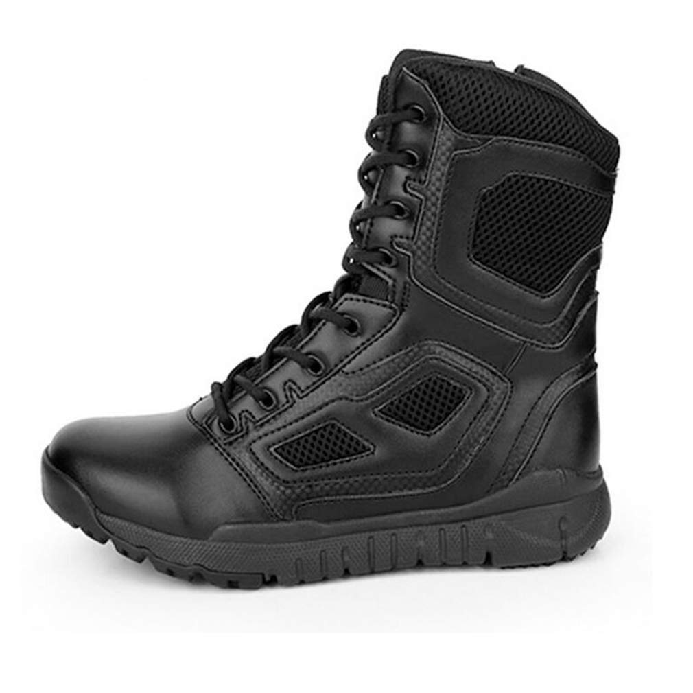Tooling Boots,Military Boots Fall//Winter Climbing Sneakers Hy Mens Hiking Shoes Mens Comfort Thick Bottom Training Shoes Color : Black, Size : 39