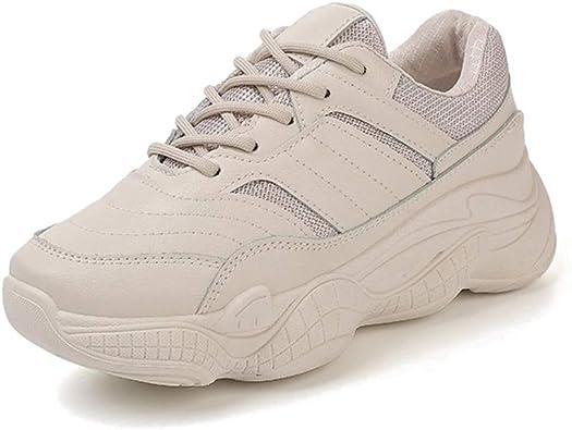 KINDOYO Zapatillas Deportivas de Mujer - Jovencita Cómodas Suela Gruesas Correr Fitness Zapatos Blanco: Amazon.es: Zapatos y complementos