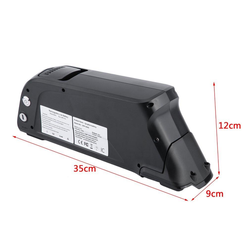 E-Bike bingh otfire Bicicleta el/éctrica bater/ía de Iones de Litio 48/V 10/Ah 4800/WH Bater/ía de Litio Kit con Cable, Todos los Modelos etc. Negro Pedelec Beverage/ /Bater/ía con Soporte