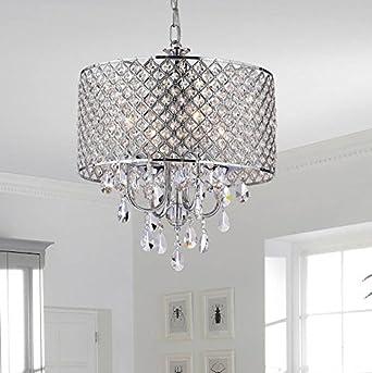 Create for Life 4 Lights Crystal Chandelier Pendant LightCeiling Light Fixture Chromed Finish  sc 1 st  Amazon.com & Create for Life 4 Lights Crystal Chandelier Pendant Light Ceiling ...