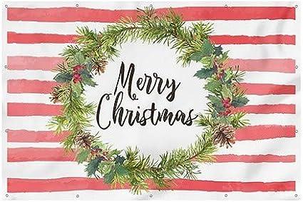 9x6 CGSignLab Merry Christmas Wreath Wind-Resistant Outdoor Mesh Vinyl Banner Holiday Decor