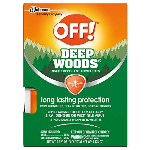 Off! Deep Woods Insect Repellent Towelettes -