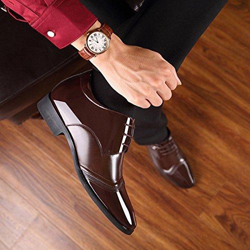 Sposa Brown Scarpe d'Affari Scarpe Scarpe Scarpe Cravatta Stealth Moda da Singole da da Aumentato Uomo 8CM Uomo YYqZEaw