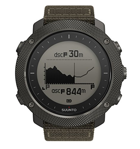 Suunto Traverse Alpha GPS/GLONASS Watch with Versatile Outdoor Functions for Fishing and Hunting and Wearable4U Ultimate Power Pack Bundle (Foliage) by Wearable4u (Image #1)