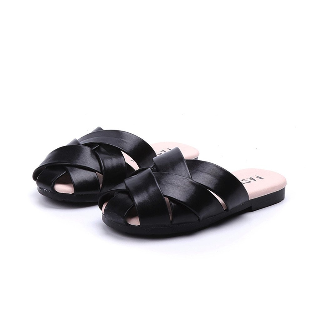 Lurryly Toddler Baby Children Beach Weave Shoes Leather Summer Sandals Slippers 3-10 T