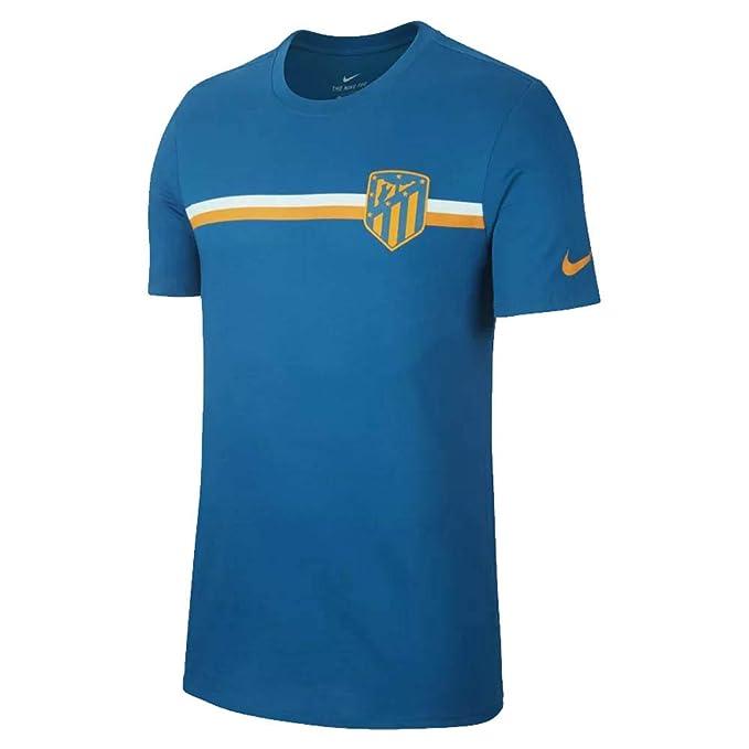 Nike ATM M Nk tee Crest Camiseta de Manga Corta Club Atlético de ...