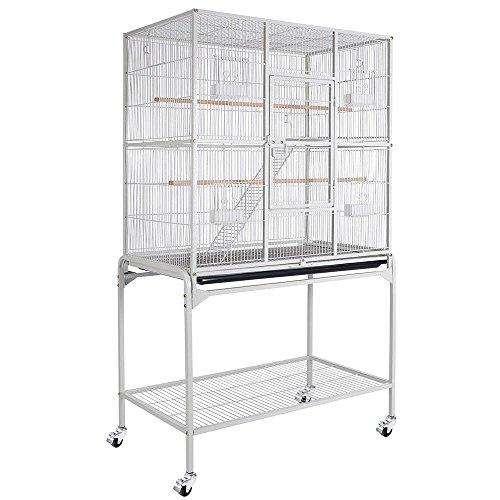 bird-parrot-cage-32x18x64-overall-size-chinchilla-sugar-glider-cockatiel-supplies-color-optionalwhit