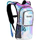 Sojourner Rave Hydration Pack Backpack - 2L Water Bladder Included for Festivals, Raves, Hiking, Biking, Climbing, Running and More (3 Pocket)