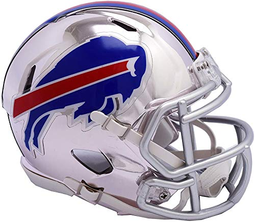 Bills Helmet Buffalo Mini Football - Sports Memorabilia Riddell Buffalo Bills Chrome Alternate Speed Mini Football Helmet - NFL Mini Helmets