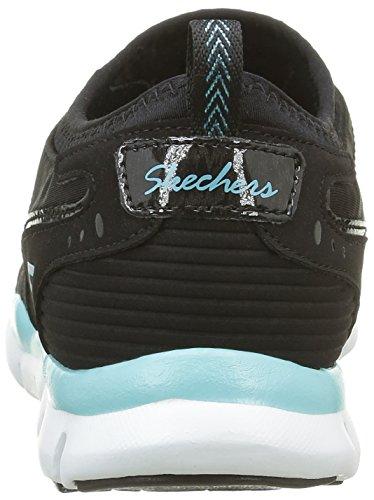 Skechers Femmes Gratuit Sneaker Slip-on Noir / Aqua