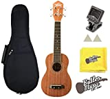 Oscar Schmidt Model OU12 Ukulele w/ Tuner, Felt picks, Gig bag & Polish Cloth