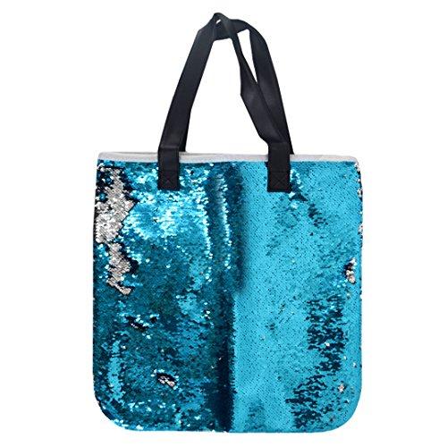 Bling Summer Lake Shoulder Bags Tote blue Glitter Large HAUTE Silver Bags Sequins amp; Beach Shopping Purse Fashion LA Hq6fvwtXf