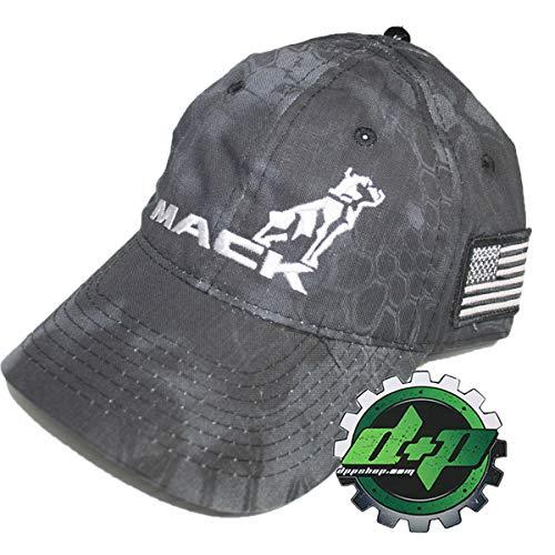 Mack Trucks Black Tactical USA American Flag Patch Hat -