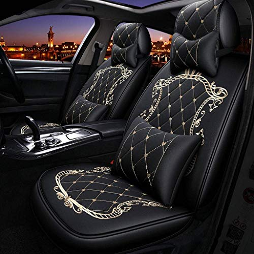 HYLH Car Seat Covers Set Leather, Universal 5 Seats Seat Cushions for the front seats and rear seat Seats Seat cover with cushions (Color : Yellow): Kitchen & Home