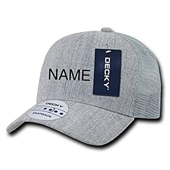 928d9174 Custom Baseball Trucker Cap Hat with Name, Sports, Uniforms, Company  Embroidery (Grey