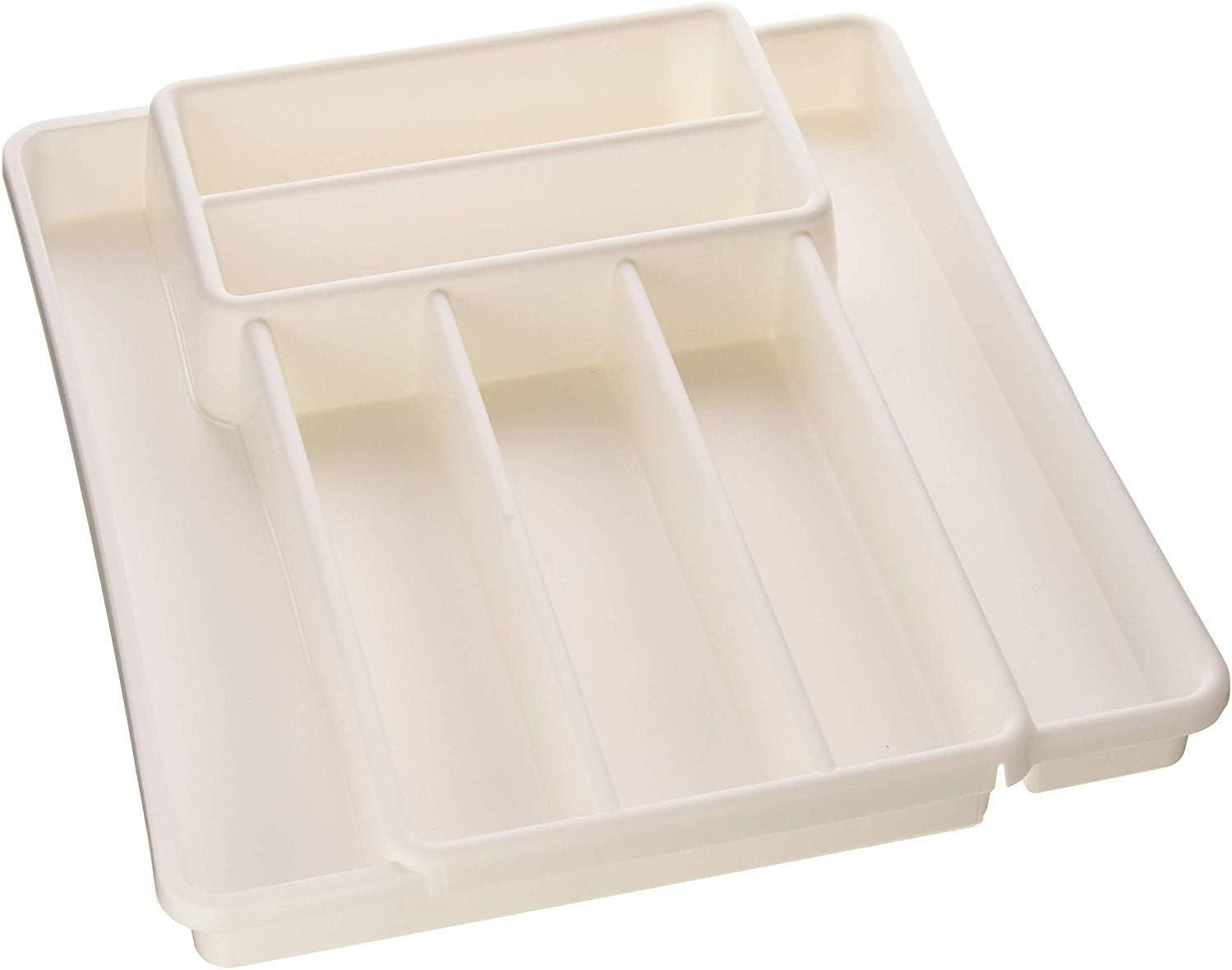 Rotho Range COUV.Extensible Blanc Besteckkasten 39,7 x 34 x 5 cm