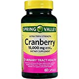 Spring Valley Cranberry Triple Strength, 15000 mg, 60 Capsules (Pack of 2)