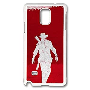 Samsung Galaxy Note 4 Case, Note 4 Case - Anti-Scratch White Hard Case for Galaxy Note 4 Case Django Unchained Artwork Ultra Slim Fit Hard Case for Samsung Galaxy Note 4