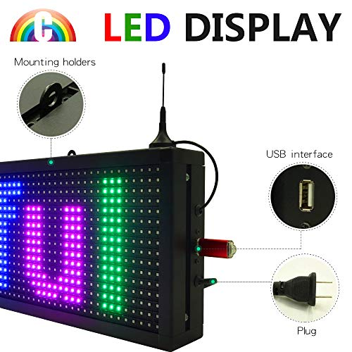 CT Colorful P10 Outdoor WiFi Scrolling Texts Messages Board led Sign by Color Trade (Image #2)